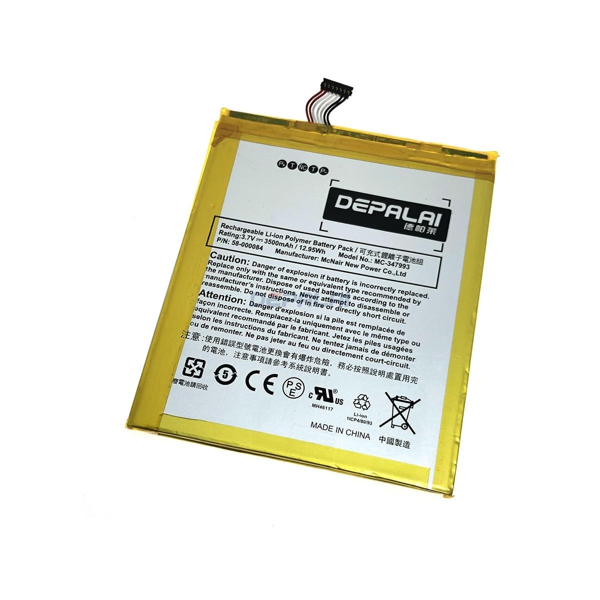 """3500mAh batería de la batería 58-000084 MC-347993 para Amazon B00IKPW0UA B00IKPYKWG para Kindle Fire HD 7 """"SQ46CW"""