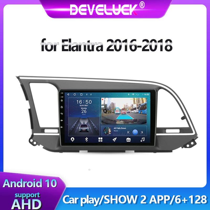 Фото - Мультимедийный видеопроигрыватель на Android 10 для Hyundai Elantra 6 2016-2018, GPS-навигация, автомагнитола 2 din, головное устройство SWC Bluetooth автомагнитола jmcq 2 din android 10 для renault megane 2 2002 2009 мультимедийный видеопроигрыватель с сенсорным экраном gps rds dvd