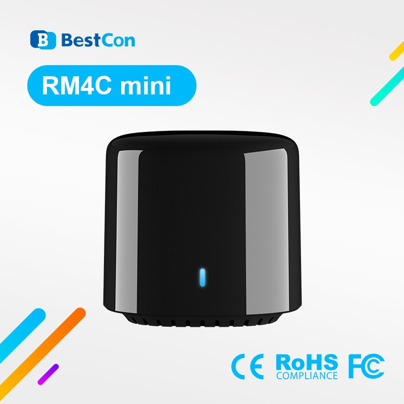 Broadlink 2020 Bestcon RM4C mini Universal 4G Wifi IR ، جهاز تحكم عن بعد صغير ، متوافق مع Alexa ، مساعد Google لـ A/C