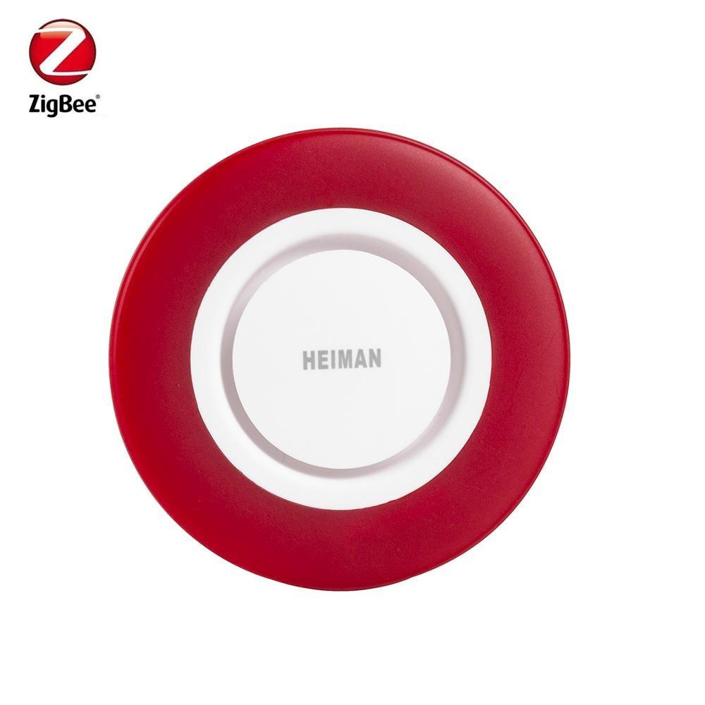 AliExpress - Heiman Zigbee3.0 Siren Alarm Strobe Flashing Siren Horn with 95DB Big Sounds Compatible with SmartThing Conbee Gateway hub