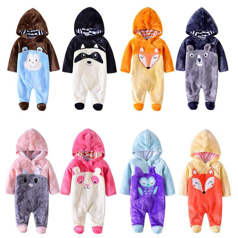 Autumn babies clothes for newborn baby boy&girl Winter Hoodie Clothes newborn baby romper 0-12m baby costume Boy Jumpsuit