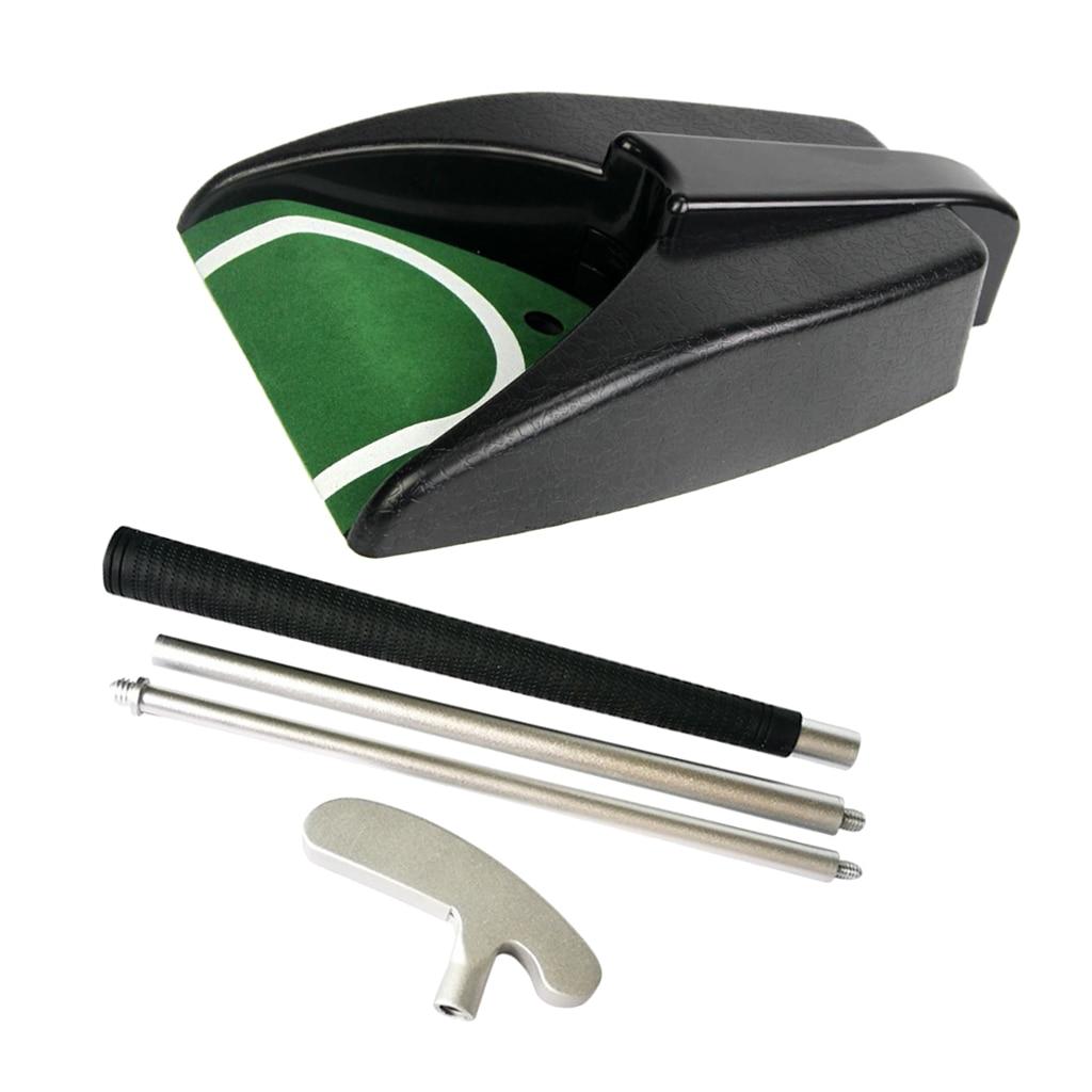 Golf Putter derecha e izquierda 3 secciones plegable doble taza automática