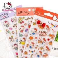 hello kitty children stickers hello kitty three dimensional crystal stickers cute cartoon puzzle stickers