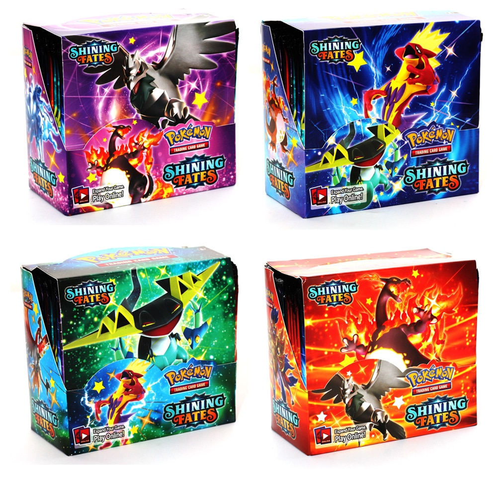 pokemon team up game card pokemon english flash card battle card child game cards english flash cards educational toys Pokemon Cards Anime 2021 Latest 360Pcs English Pokemon Shining Fates Cards Trade Game Battle Card Collection Collectable Toys