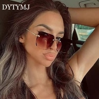 dytymj 2020 square retro sunglasses women luxury brand glasses for women vintage sunglasses women mirror oculos de sol feminino