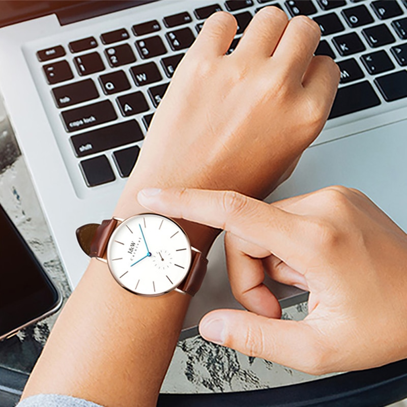 Carnival Brand Fashion Watch Man Luxury Waterproof Ultra Thin Nordic Casual Leather Quartz Wristwatches Clock Relogio Masculino enlarge