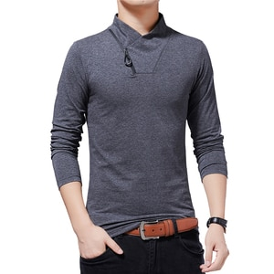 Brand T-shirt 2020 Men's Tshirt Autumn Fashion Long-Sleeved T-shirt Men Slim Fit Plus Size M-5XL Cotton T Shirt High Quality