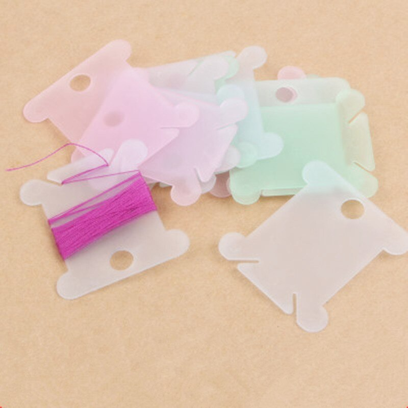 20PCS רקמת חוט קרפט חוט סיסה צלב תפר אחסון מחזיק פלסטיק תפירת חוט לוח כרטיס קרפט קיט