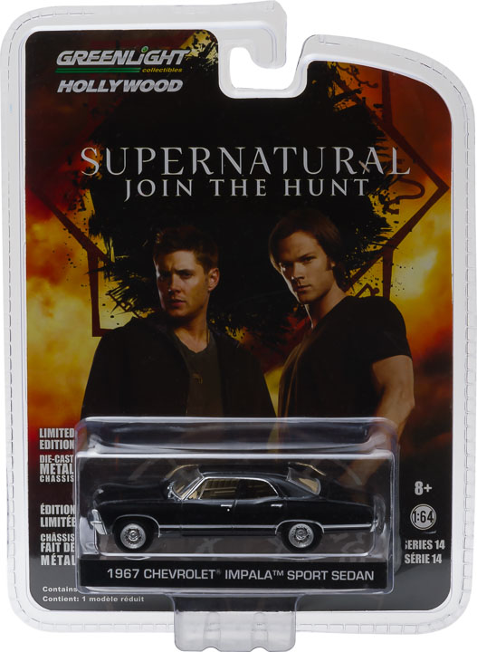 1967 Chevrolet Impala Sport Sedan Greenlight Hollywood 1/64 Car Supernatural Collection Metal Diecas