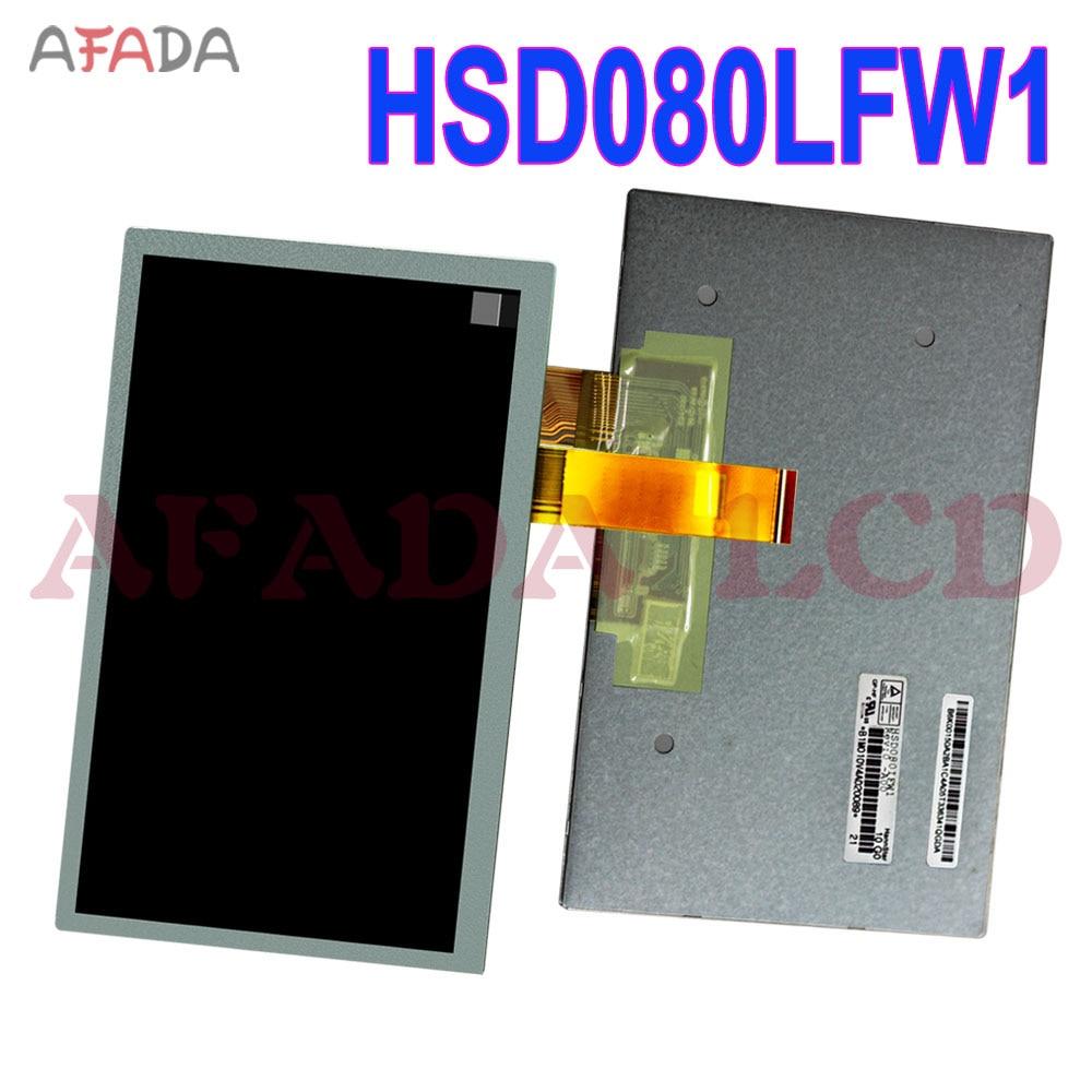 2 шт. Оригинальный ЖК-экран HSD080LFW1 GPS ЖК-дисплей Замена панели HSD080LFW1 ЖК-дисплей
