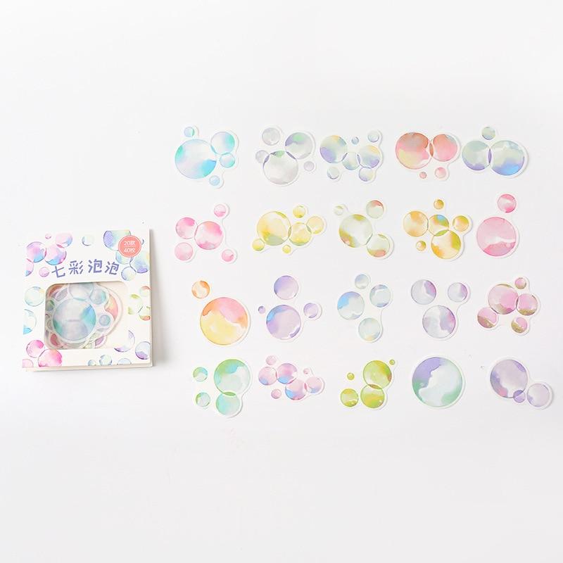 40-pz-borsa-bolle-colorate-fai-da-te-adhensive-mini-diario-di-adesivi-decorativi-etichetta-bastone