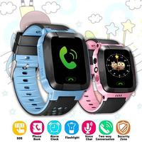 Детские Смарт-часы с GPS, часы для мальчиков и девочек, с функцией SOS звонка, GSM, водонепроницаемый подарок для IOS/Android