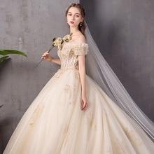 فستان مضيء فرنسي من Vestidos للمشاهير من Tapete Cozinha موضة 2020 جديد عروس بكتف واحد أنيق ، مناسب للفتيات الأحلام من الأميرات