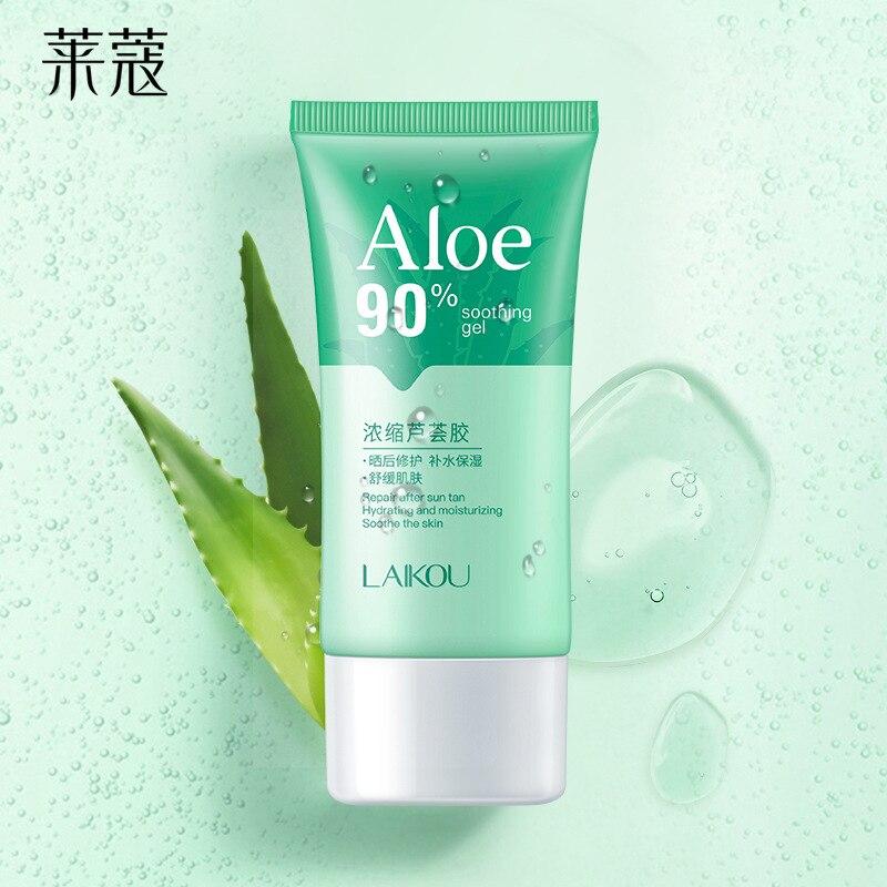 90% экстракт алоэ, успокаивающий гель, увлажняющий, улучшающий восстановление кожи, крем для лица, лечение акне, осветляющая маска для сна, ух...