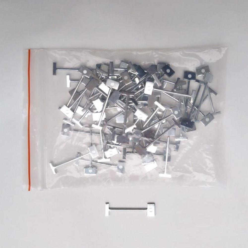Kit per sistema di livellamento piastrelle da 100 pezzi solo aghi per - Strumenti di costruzione - Fotografia 5