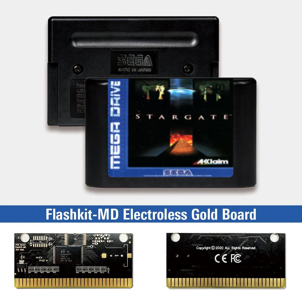 Stargate Star gate-Tarjeta PCB para Sega Genesis Megadrive, etiqueta europea, Flashkit MD,...