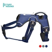 tuff hound no pull pet harness adjustable outdoor pet vest 3m reflective training pet nylon material vest for dogs easy control