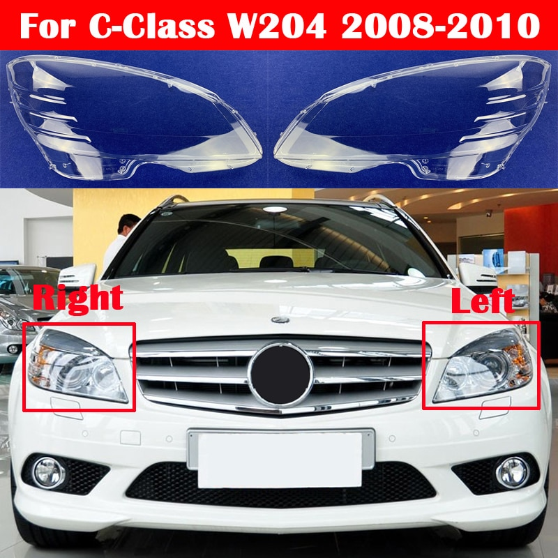 zjcgo hd car rear view reverse back up parking camera upgrade for mercedes benz mb c class w204 c180 c200 c280 c300 c350 c63 amg For Mercedes-Benz C-Class W204  2008-2010 C180 C200 C260 C280 C300 200k 180k Car Front Headlight Cover Glass Lens Caps Shell