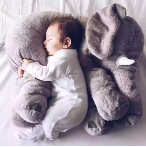 40cm/60cm elefante altura gran muñeco de juguete de peluche cojín infantil para dormir de peluche almohada bebé acompañar muñeca de Navidad Gi