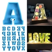 80 hot sale alphabet mould large size not easy to break silicone letter a to z 3d mold decoration for wedding decoration