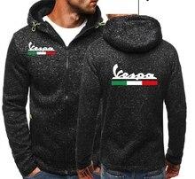 Vespa-sweat-shirt Jacquard pour hommes, sweat-shirt pour voiture, avec fermeture éclair, veste polaire, tendance, tenue décontracté