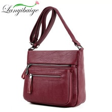 Projektant kobiet luksusowa torebka 2020 moda wysokiej jakości miękkie skórzane torby damskie torebki multi-pocket torba na ramię