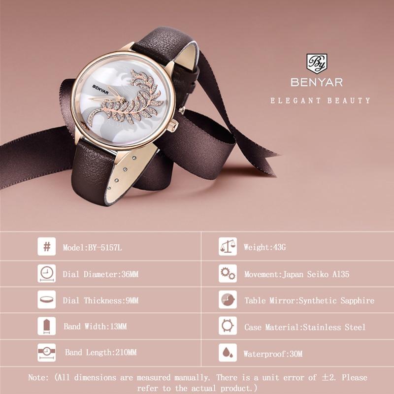 New BENYAR Women Watches Fashion Quartz Ladies Watches Top Brand Luxury Gold Watch Creative Wristwatch Lady Clock Zegarek Damski enlarge