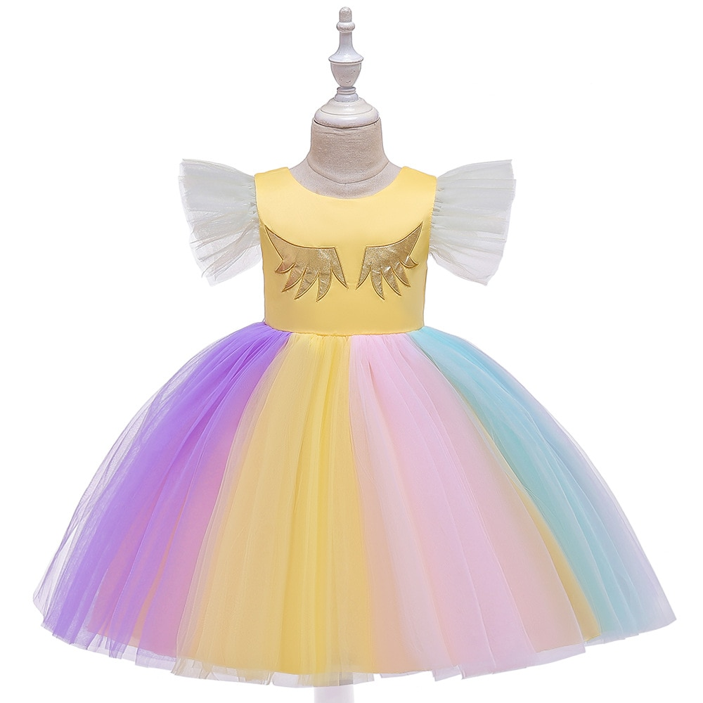 Girl Princess Dress Tutu Party Flower Girl Dresses Tulle Lace Knee Girl Dress Dresses For Kids Children Formal Clothes western girl spring floral dress girl baby princess lace hollow collar fashion skirt dress kids dresses for girls knee length