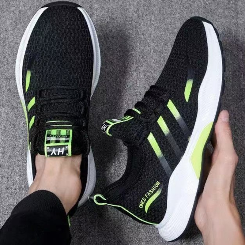 Flying woven Men Sneakers spring and summer new men's shoes casual breathable sports shoes running men's shoes