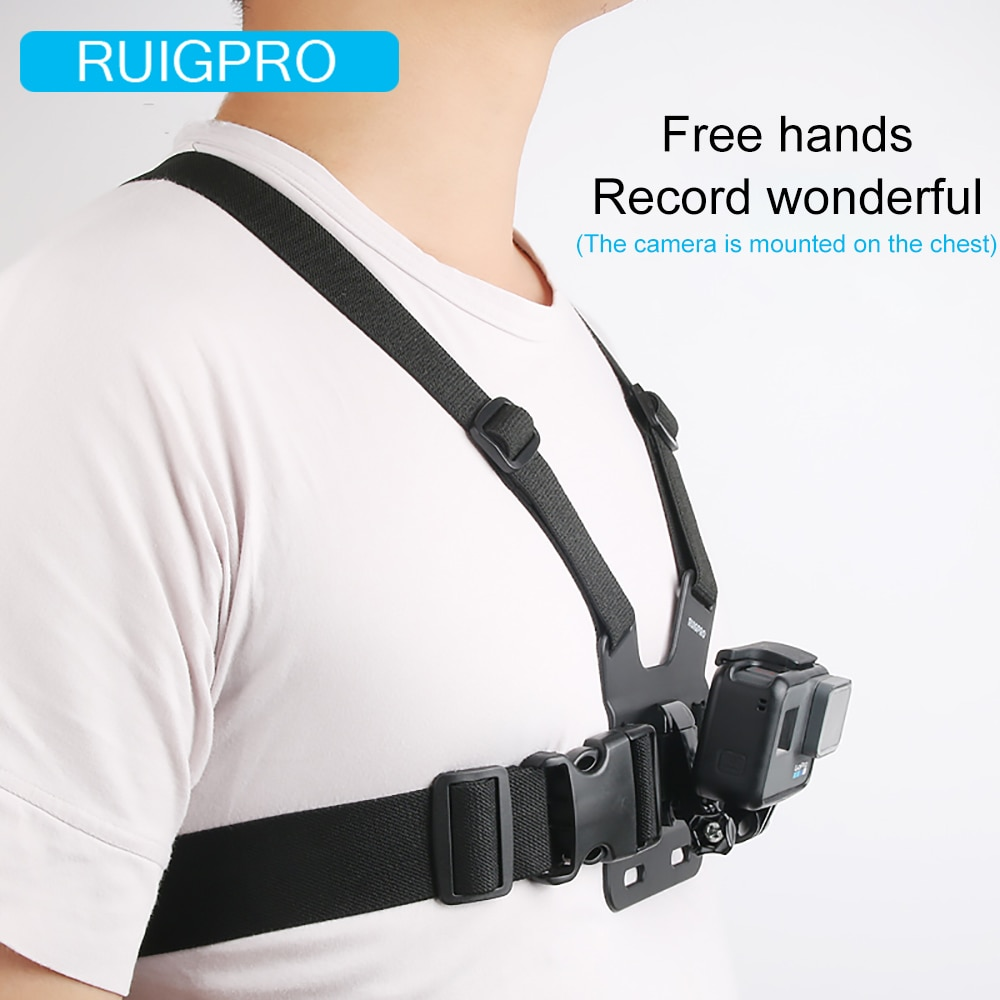 Ruigpro Adjustable Harness Chest Strap Mount For DJI osmo action camera Gopro Hero 9 8 7 6 5 4 Xiaomi Yi 4K Go Pro 7 Accessory enlarge