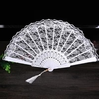 ladies folding lace hand fan wholesale personalized fans of old wedding decor for home decoration ornament dance accessories