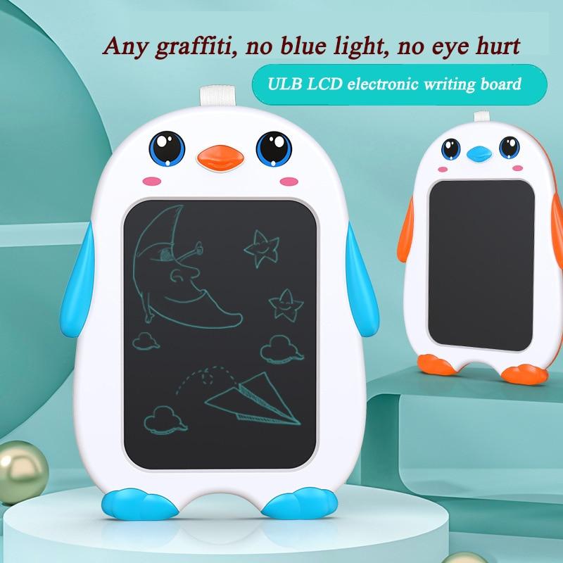 Фото - 9-дюймовый ЖК-дисплей Пингвин Трехцветная беспыльная доска для рисования детская мультяшная доска для рисования сувенир пингвин 9 5х9х17см star craft