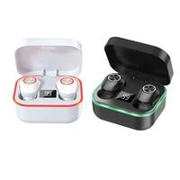 m8 wireless earphone bluetooth earbuds fashion noise cancelling earphones with mic headset waterproof led breathing light