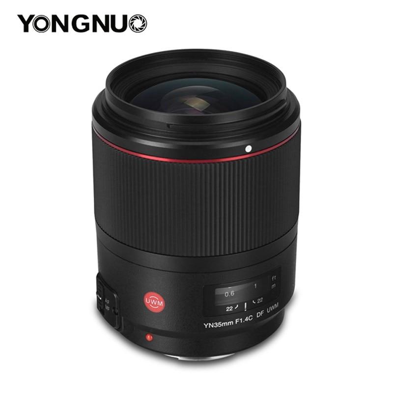 YONGNUO YN35mm F1.4C DF UWM Lente para Canon 6D 5D MARK IV 70D 200D 6D MARK II T6 1300D 200D 70D 7D G7X mark ii