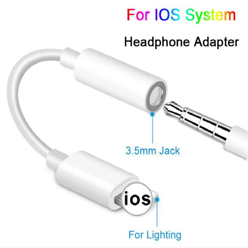 Para iPhone 7 6 6 8 11 X auriculares AUX Adaptador macho...
