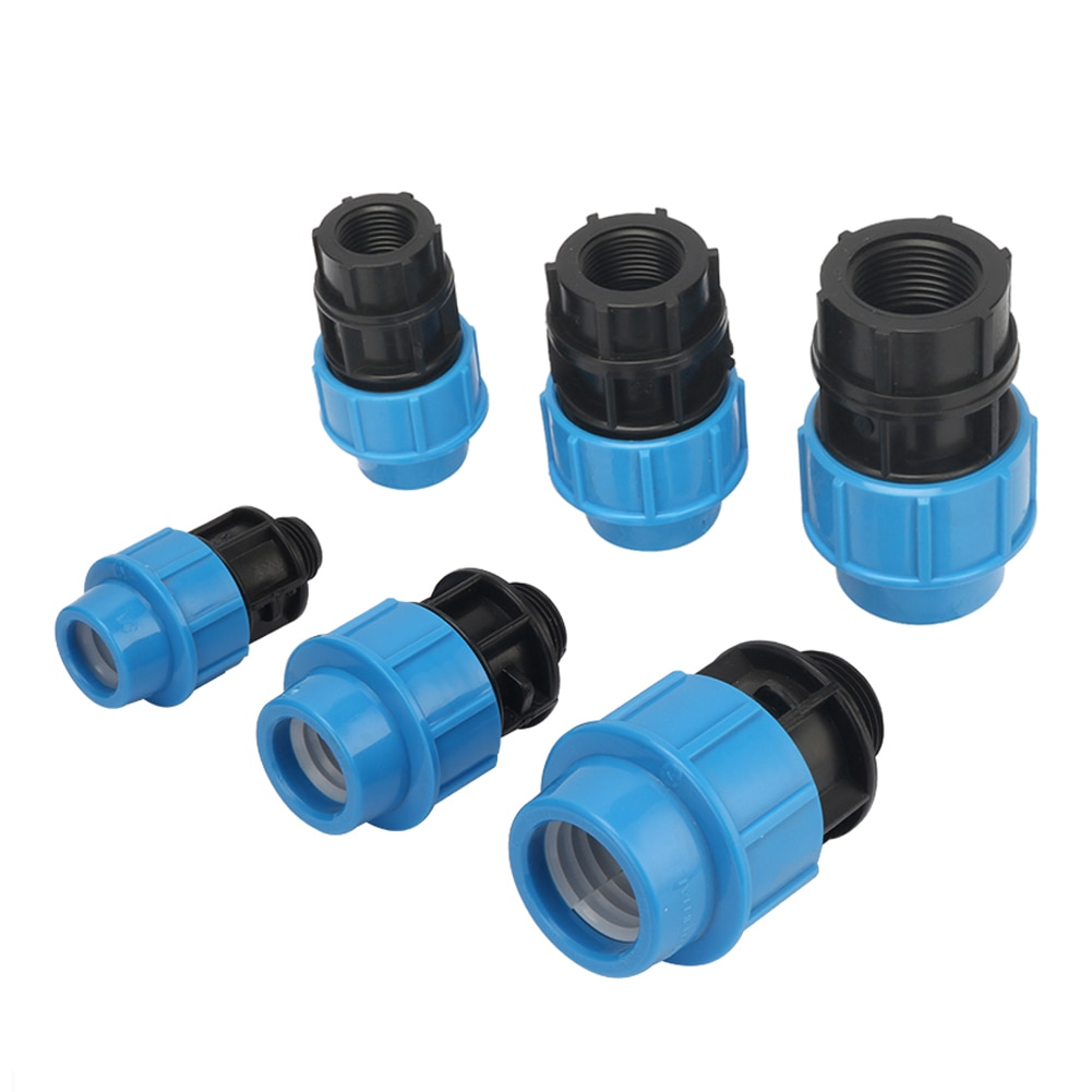 """5 uds. De interfaz de tubo de diámetro de salida de 20/25/32mm a conectores rectos de PE de 1/2 """"3/4"""" 1 """"macho/hilo femenino, accesorios de tubería de fontanería"""