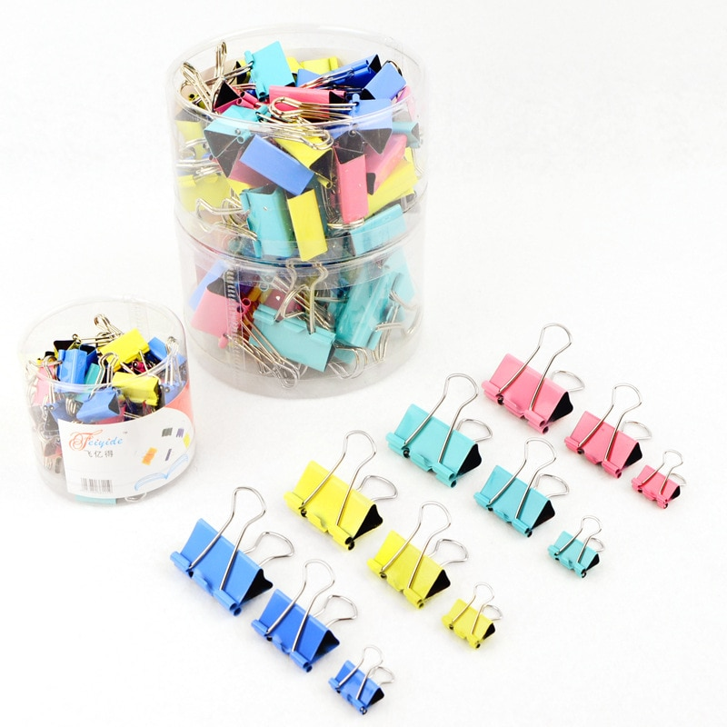 10x New 15mm Candy Color Metal Binder Clips Paper Clip Clamp Office School Binding Supplies