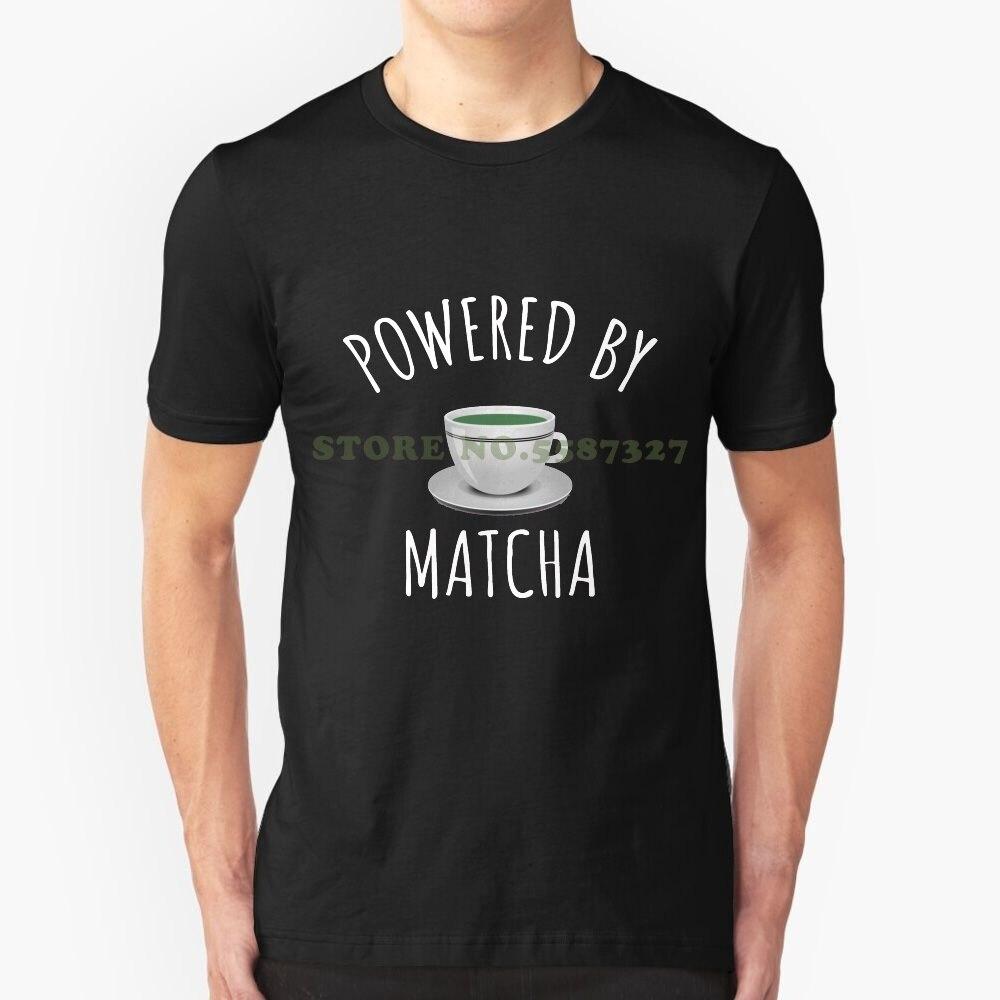 Powered By Matcha-lindo té verde regalo camiseta camisetas para hombres mujeres