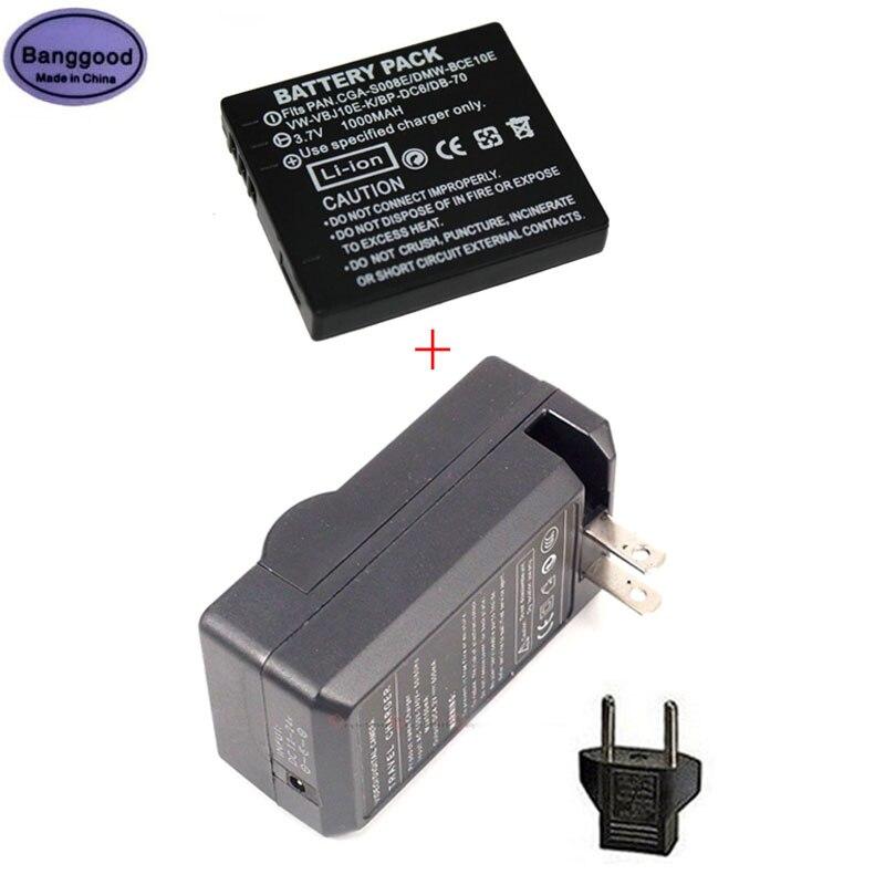 Bateria da Câmera para Panasonic Banggood Vw-vbj10e Db-70 Lumix Fx35 Dmc-fs20 Dmc-fs5 Dmc-fs3 3.7v 1000mah Dmw-bce10e Cga-s008e