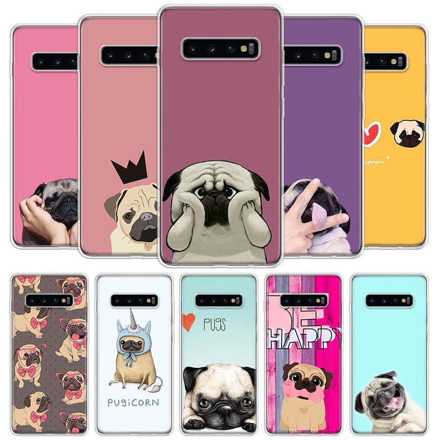 Me encanta pugs funda de teléfono funda para Samsung Galaxy S20 Ultra S10 Lite Nota 10 9 8 S9 S8 J4 J6 J8 Plus + S7 borde Coque