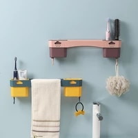 towel hanging wall hanging non perforated towel rack toilet washing rack wall drain rack bathroom storage and organization home