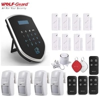 Wolf-Guard     systeme dalarme de securite domestique sans fil  GSM 3G  wi-fi 2 4GHz  capteur de porte  detecteur de mouvement PIR  telecommande