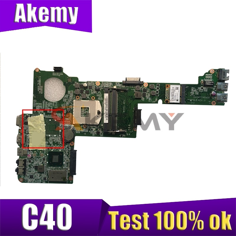 AKEMY توشيبا C40 دفتر اللوحة الأم DA0MTCMB8G0 SLJ8C DDR3 اللوحة الأم للكمبيوتر المحمول