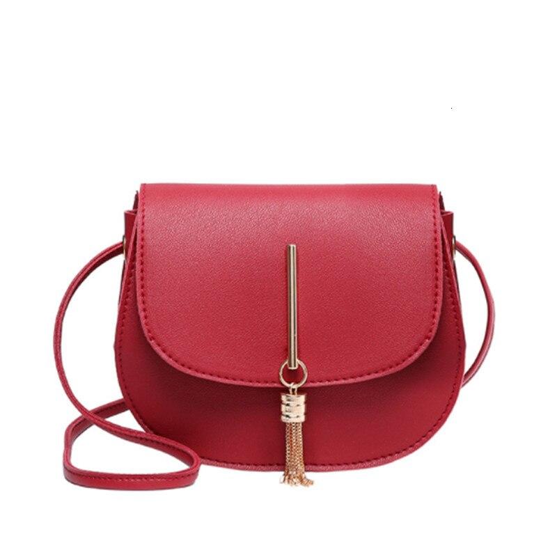 Mode Mini sac à bandoulière femme gland solide en cuir PU sac à main à bandoulière femmes