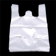 Sac à provisions en plastique utile populaire 100 pièces sac à provisions Transparent sacs en plastique de supermarché avec lemballage alimentaire de poignée