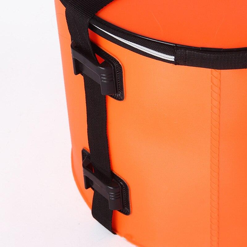 40L Large Capacity Folding Waterproof Fishing Bucket Fishing Bag Fish Protection Barrel Portable Round Eva Fish Bag enlarge