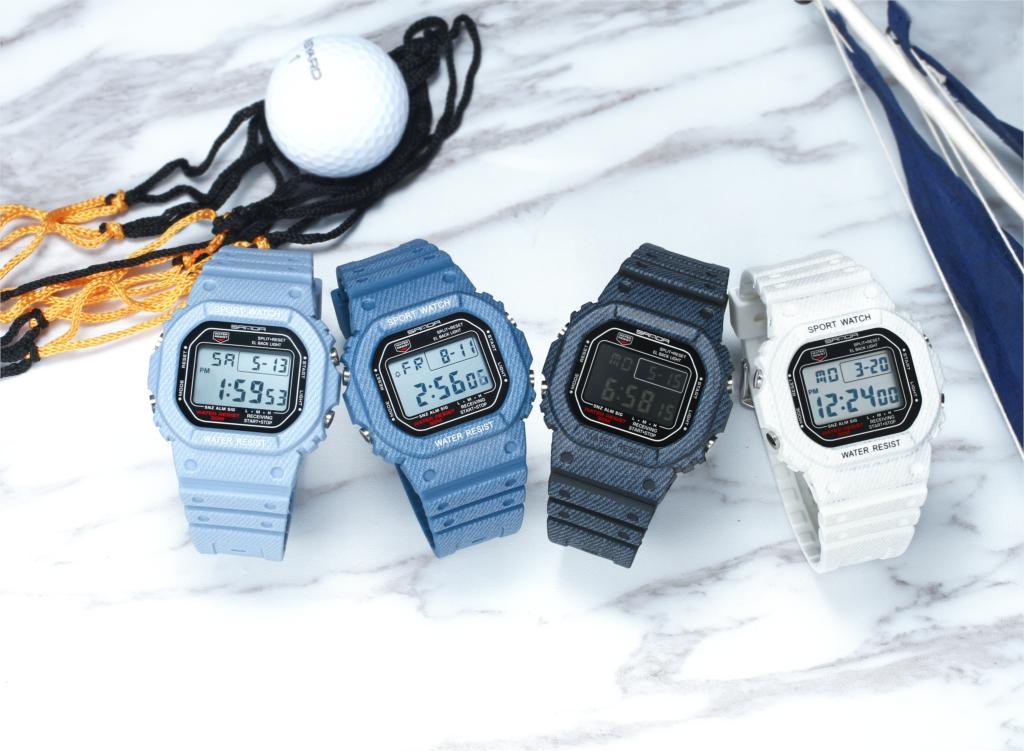 SANDA Digital Sport Watches Waterproof Couple Watch Lover's Wristwatches Outdoor Multi-function Women  Fashion Creative Clock enlarge