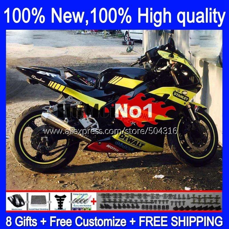 ABS الجسم لكاواساكي النينجا ZXR-400 ZXR400 1991 1992 1993 94 95 96 113MC.5 ZXR 400 91 92 93 1994 1995 1996 هدية الأصفر الأسود