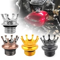 mactions crown style vented fuel tank cap gas cap for harley sportster xl 883 1200 touring road king dyna softail custom