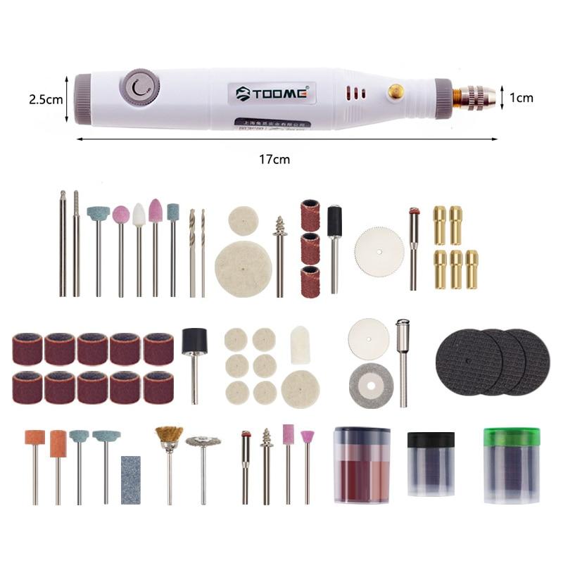 Elektrická mini vrtačka, stroj na manikúru elektrického nářadí pro nástroj Dremel 0,3 - 3,2 mm se sadou brusného příslušenství, mini gravírovací pero